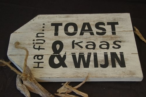 "Dienblad ""Toast.."""