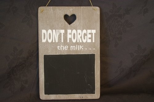 "Krijtbord ""Dont Forget"""